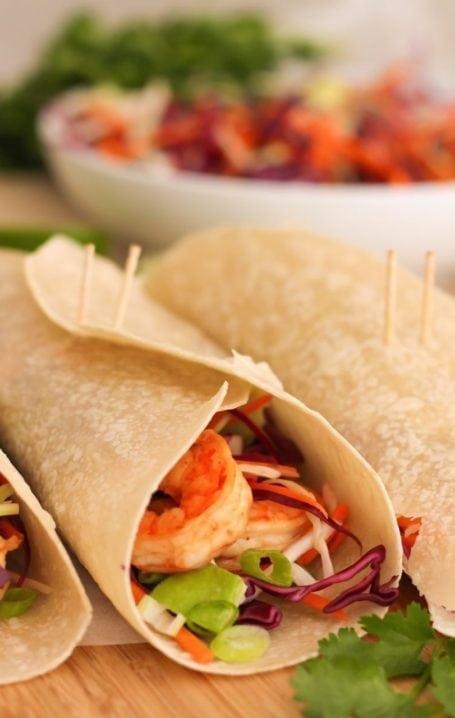 Chipotle Shrimp Burritos - Eat Spin Run Repeat