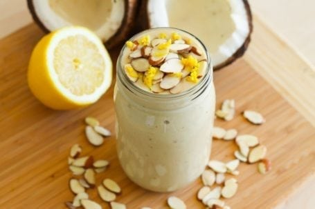 Lemon Coconut Pie Smoothie - Eat Spin Run Repeat