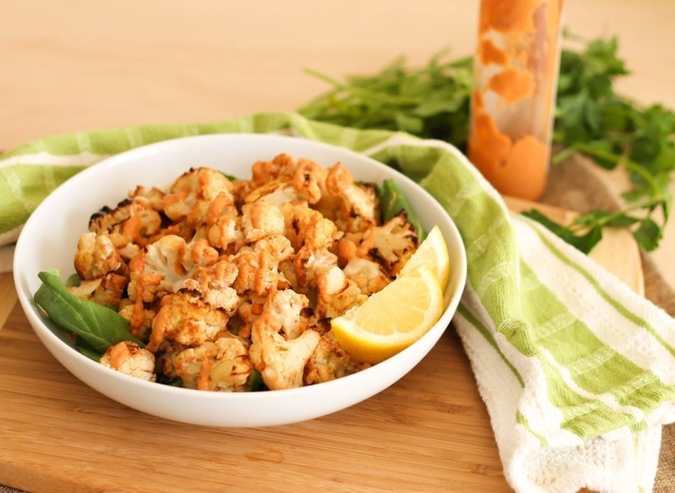 Lemon Roasted Cauliflower - Eat Spin Run Repeat