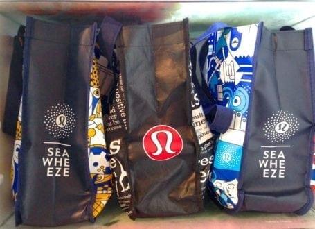 Lululemon lunch bags in the fridge