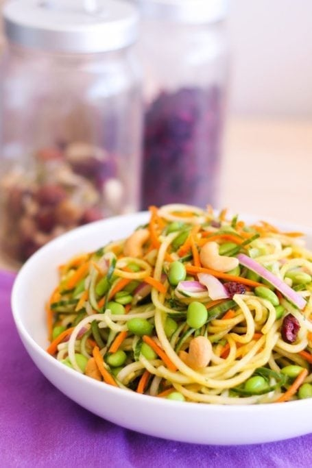 Mango Curried Cucumber Noodle Salad - Eat Spin Run Repeat