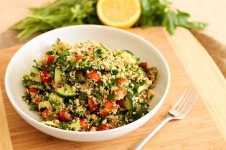 Tuna and Quinoa Tabbouleh - Eat Spin Run Repeat