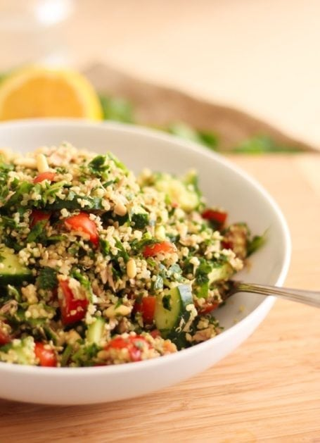 Tuna and Quinoa Tabbouleh - Eat Spin Run Repeat