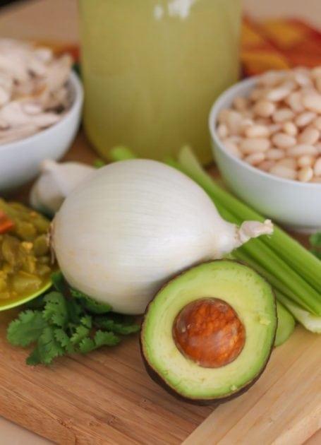 avocado and onion
