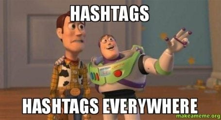 hashtags - hashtags everywhere