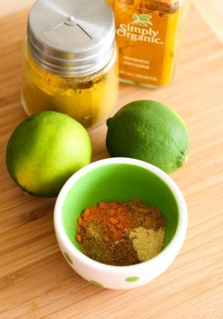 limes and curry spice mix