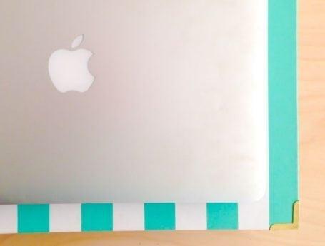 macbook on binder
