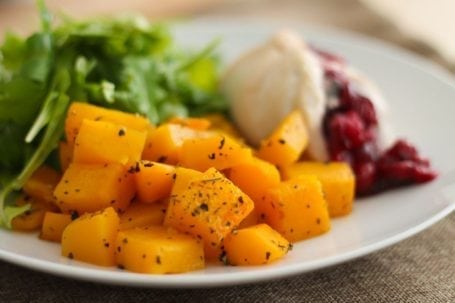 Cranberry Turkey Roll-Ups with Roasted Butternut Squash - Eat Spin Run Repeat