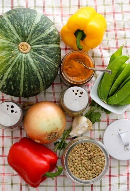 Ingredients for Lentil and Kabocha Squash Curry - Eat Spin Run Repeat