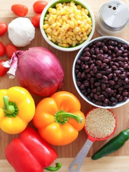 Ingredients for Southwestern Stuffed Peppers
