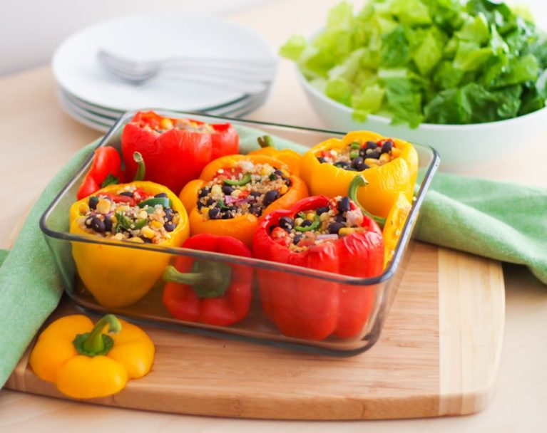 Southwestern Stuffed Peppers - Eat Spin Run Repeat