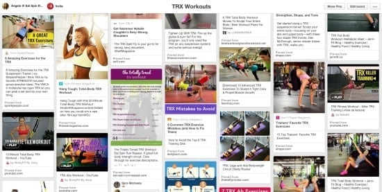 TRX workouts on Pinterest