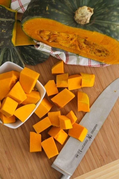 chopped kabocha squash