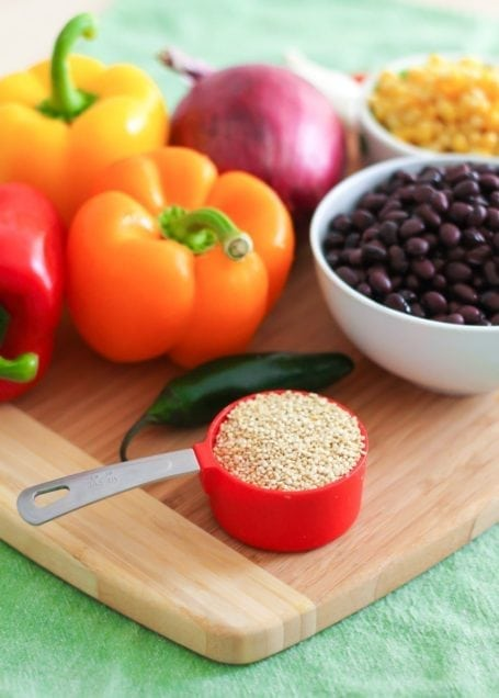 quinoa and peppers