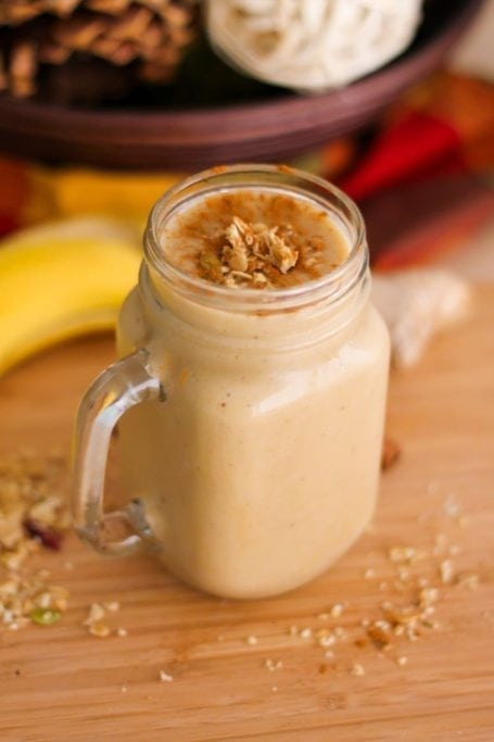 Vegan High-Protein Banana Bread Smoothie - Eat Spin Run Repeat