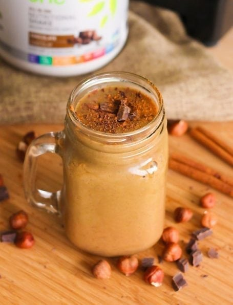 Chocolate Maca Hazelnut Smoothie - Eat Spin Run Repeat