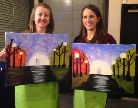Danielle and I at Paint Nite