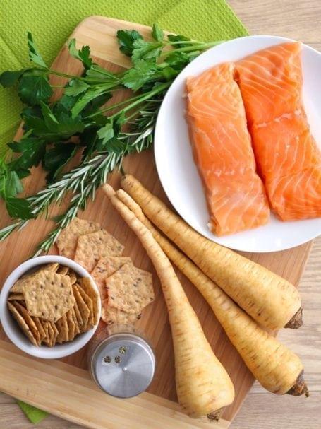 Ingredients for Lemon Herb Salmon Cakes - Eat Spin Run Repeat