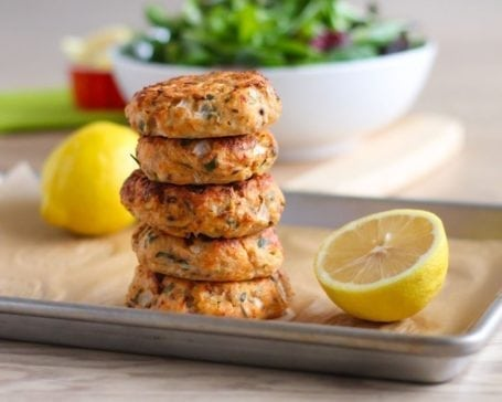 Lemon Herb Salmon Cakes - Eat Spin Run Repeat