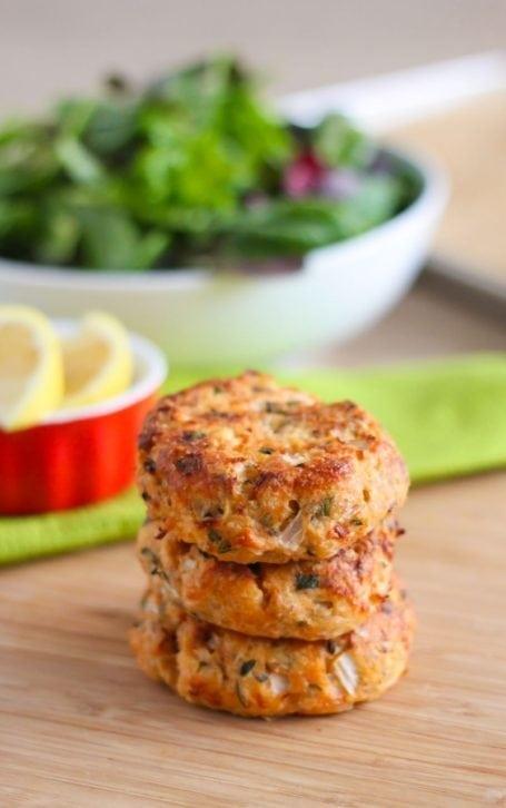 Lemon Herb Salmon Cakes - Eat Spin Run Repeat