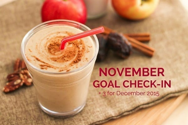 November Goal Check-In + 3 for December 2015 - Eat Spin Run Repeat