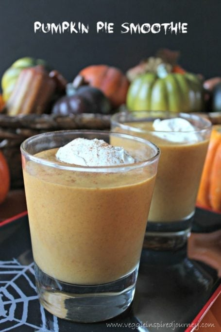 Pumpkin Pie Smoothie - Veggie Inspired Journey