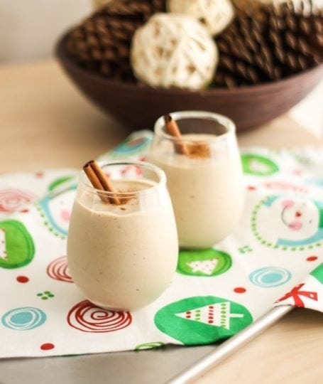 Vegan High-Protein Egg Nog Smoothie - Eat Spin Run Repeat