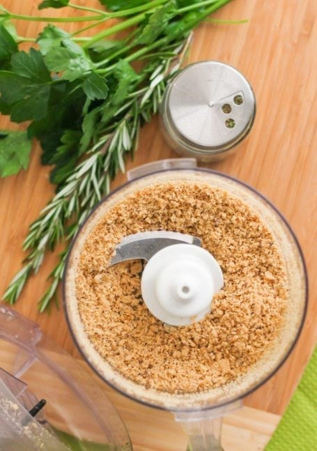 cracker crumbs in food processor