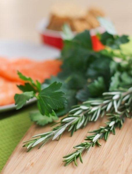 fresh rosemary and parsley