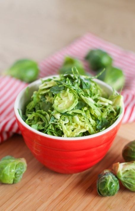 shredded brussels sprouts
