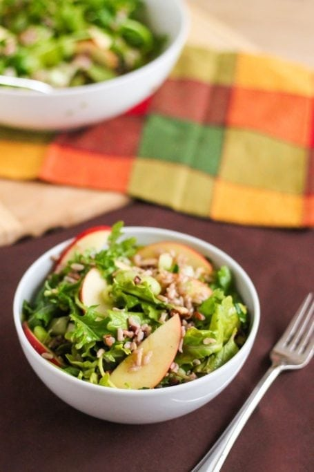 Cranberry Walnut Wild Rice Salad - Eat Spin Run Repeat