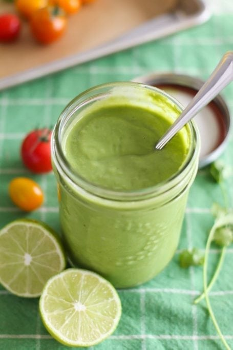 Creamy Cilantro Avocado Sauce - Eat Spin Run Repeat