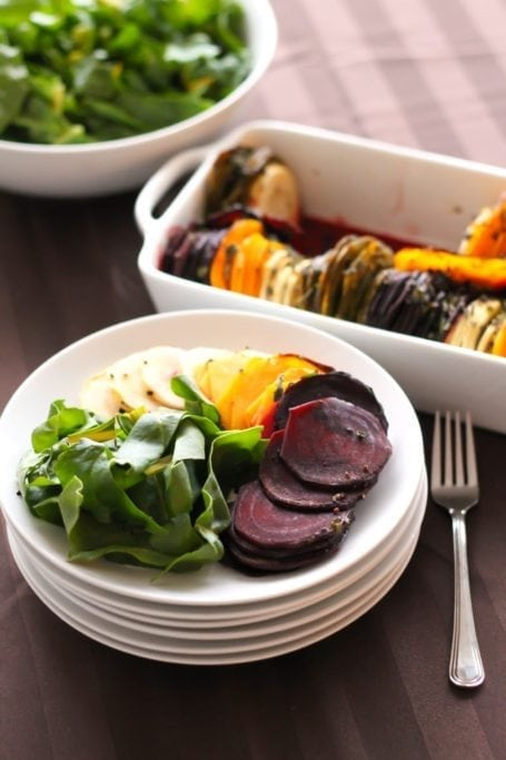 Herb Roasted Root Vegetables | My Fresh Perspective | This paleo, vegan, Whole30-friendly side dish is perfect for Thanksgiving, holiday entertaining, or simply enjoying on your own! #paleo #whole30 #thanksgiving #antiinflammatory #squash