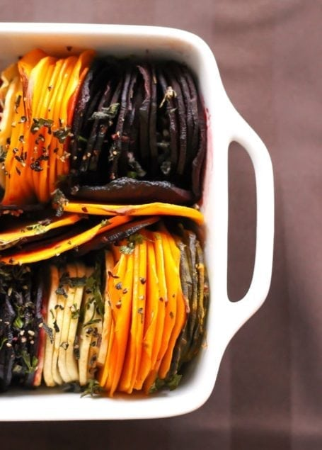 Herb Roasted Root Vegetables - Eat Spin Run Repeat