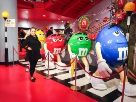 walking with the m&ms