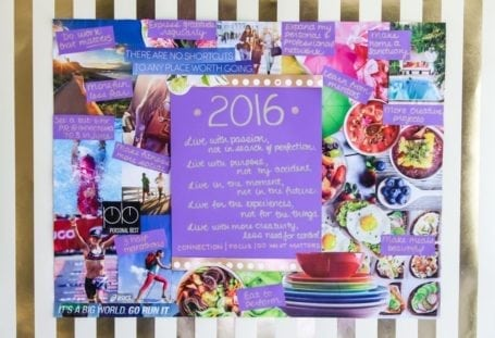 2016 Vision Board - Eat Spin Run Repeat