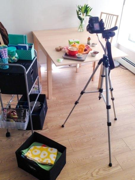 Behind the scenes - Cranberry Orange Granola