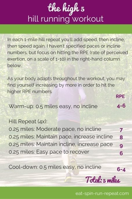 Fit Bit Friday 227 - The High 5 Hill Running Workout - Eat Spin Run Repeat
