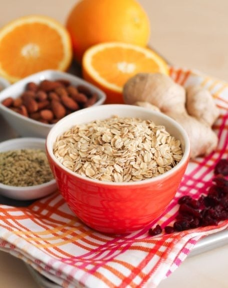 Ingredients for Cranberry Orange Granola - Eat Spin Run Repeat