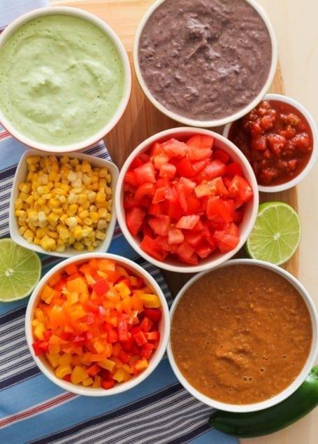 Ingredients for Vegan 7-Layer Taco Dip - Eat Spin Run Repeat