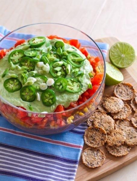 Vegan 7-Layer Taco Dip - Eat Spin Run Repeat