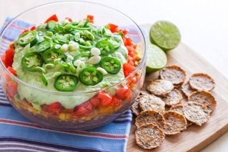 Vegan 7-Layer Taco Dip - Eat Spin Run Repeat