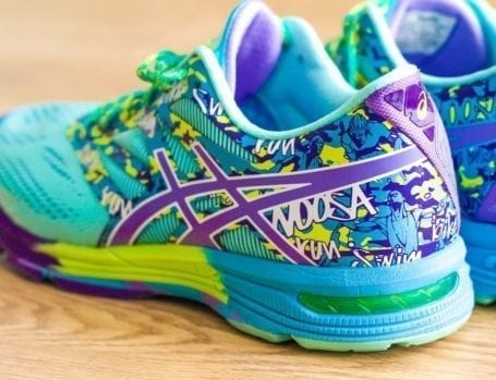 asics gel tri noosa 10s - blue and purple