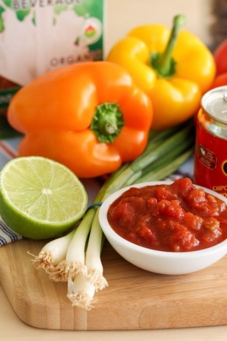 salsa and peppers