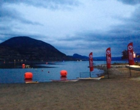 swim course at challenge penticton
