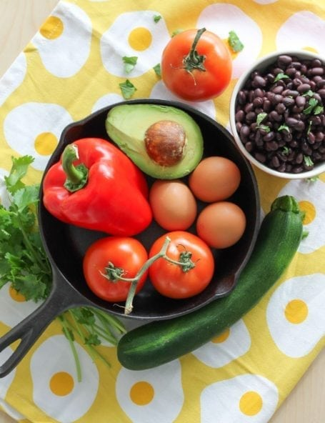 Ingredients for Huevos Rancheros Skillet - Eat Spin Run Repeat