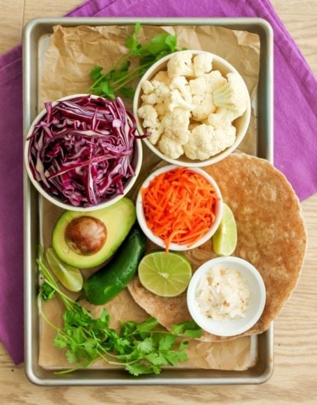 Ingredients for Thai Roasted Cauliflower Tacos - Eat Spin Run Repeat