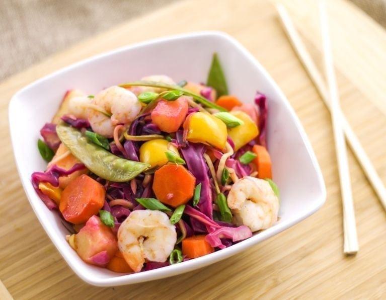 Pineapple Teriyaki Shrimp Stir Fry - Eat Spin Run Repeat