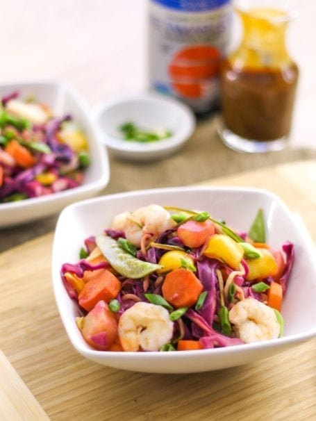 Pineapple Teriyaki Shrimp Stir Fry - Eat Spin Run Repeat