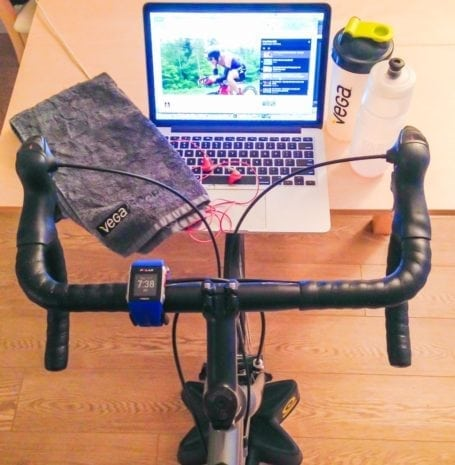 Sunday morning long ride on the trainer